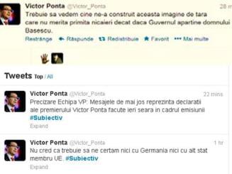 Gafa echipei Ponta pe Twitter