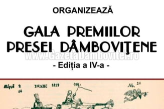 Gala Premiilor Presei Dambovitene, editia a-IV-a, la Biblioteca Judeteana