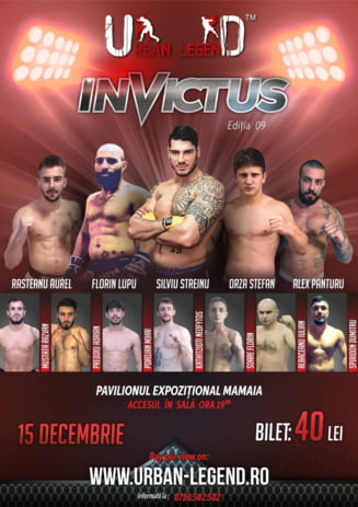 Gala sporturilor de contact Urban Legend 9 Invictus are loc pe 15 decembrie la Constanta