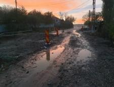 Galati: O rupere de nori a inundat drumuri si a afectat o sosea si un podet aflate in lucru