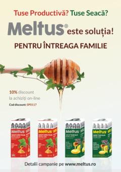 Gama de siropuri Meltus, disponibila acum si online. Rapid si economic pentru familia ta