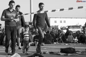 Gaze lacrimogene la granita dintre Macedonia si Grecia: Zeci de refugiati raniti, dupa ce au vrut sa rupa gardul (Video)