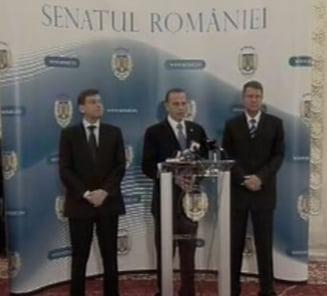 Geoana, Antonescu si Iohannis: Suntem echipa care va rezolva problemele Romaniei