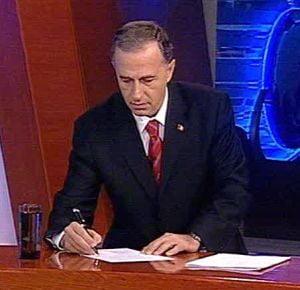 Geoana a semnat in direct pensionarea lui Basescu