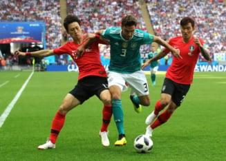 Germania pierde cu Coreea de Sud si paraseste Cupa Mondiala 2018