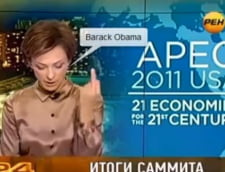 Gest obscen al unei prezentatoare de stiri din Rusia la adresa lui Obama (Video)