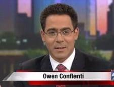 Gest obscen la TV - Protagonistul: prezentatorul stirilor