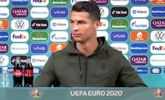 Gestul de lehamite facut de Cristiano Ronaldo fata de unul dintre sponsorii Euro 2020 VIDEO