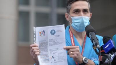 """Gheorghiţă, despre certificatele false de vaccinare: """"Cu 100 de euro îşi cumpără riscul de a se îmbolnăvi şi chiar şi riscul de a deceda"""""""