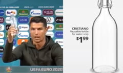 """Gluma Ambasadei Suediei la Bucuresti dupa gestul lui Ronaldo de a ascunde recipientele de Coca-Cola. Cum arata sticla de apa """"Cristiano"""""""