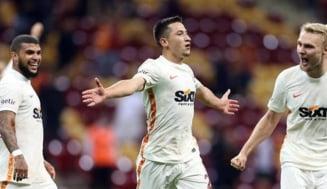 Gol de poveste pentru Olimpiu Moruțan la Galatasaray! Românul și-a ridiculizat adversarii VIDEO