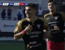 Gol fantastic din foarfeca al lui Romario Moise de la UTA Arad, demn de premiul Puskas (Video)