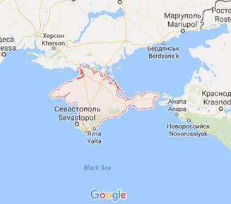 Google Maps i-a infuriat pe rusi, dupa ce a modificat denumirile de pe harta Crimeei