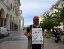 Graficianul Dan Perjovschi despre pancartele protestelor Rosia Montana: Vai de mine si de miner! Interviu