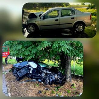 Grav accident de circulatie in judetul Giurgiu. Trei persoane ranite au fost transportate la spital in Bucuresti