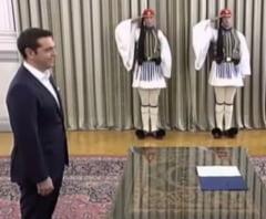 Grecii au ales sa nu schimbe nimic: Alexis Tsipras a depus juramantul in functia de premier (Video)