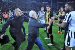 Grecii au suspendat toate meciurile din campionat, dupa incidentele de la PAOK - AEK Atena