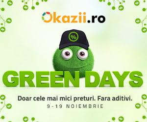 Green Days la Okazii.ro: mii de produse la cele mai mici preturi din piata