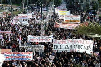 Greva generala in Grecia: traficul aerian si feroviar este paralizat