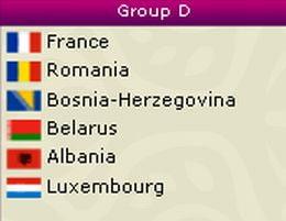 Grupa accesibila pentru Romania in preliminariile Euro 2012