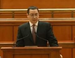 Guvernul si-a asumat raspunderea pe noul program - Ponta: Sa nu facem greseala din 2009