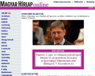 Gyurcsany cere boicotarea unui ziar pentru un editorial despre criminalii lui Cozma