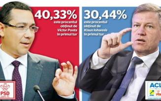 HARTA Alegeri prezidentiale 2014. Romania mica l-a votat pe Iohannis. Cat de mult s-a colorat tara in rosu