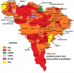 Harta Votului Din Consiliile Locale Din Alba Vezi Cum S A