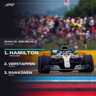 Hamilton castiga prima cursa de Formula 1 disputata in Franta dupa 10 ani