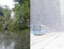 Haos in Romania: Inundatii, trafic de cosmar, oameni raniti, ninsoare