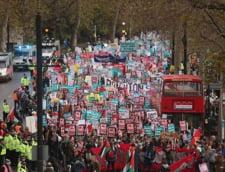 Haos la un protest studentesc din Londra (Galerie foto)