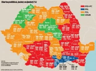 Harta politica a Romaniei