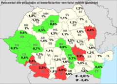 Harta saraciei: Un sfert de milion de romani stau cu mana intinsa la stat. Topul judetelor