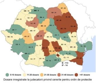 Harta violentei domestice din Romania: Aradul se numara printre judetele cu cele mai putine cazuri raportate!