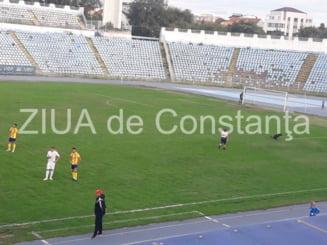 Haz in tribune Un caine a intrat pe teren la meciul FC Farul - Ripensia Timisoara (galerie foto+video)