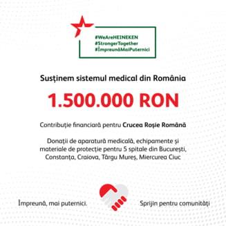 Heineken doneaza 250.000 lei catre Crucea Rosie in contextul COVID-19