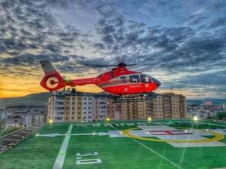 Heliportul de pe Spitalul Judetean de Urgenta, receptionat! Un elicopter SMURD a avut misiunea de calibrare a echipamentelor!