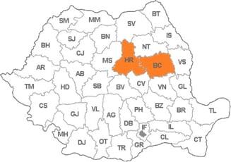 Hotarele disputate intre localitati din Harghita si Bacau vor fi stabilite de instanta de judecata
