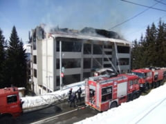 Hotel din Ranca distrus intr-un incendiu