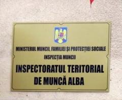 ITM Alba: Patru avertismente aplicate de inspectori, in perioada 16-18 august, angajatorilor depistati cu nereguli in activitatea de munca. Principalele deficiente