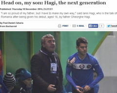 Ianis si Gica Hagi, eroi pe site-ul UEFA