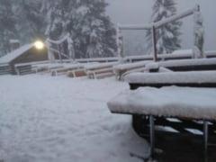 Iarna da primele semne ca vine la Brasov, la Cabana Postavarul