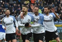 Icardi, patru goluri marcate la Sampdoria. Show facut de Inter, care e pe loc de Champions League (Video)
