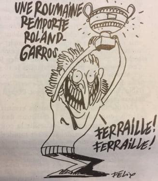 Ilie Nastase reactioneaza dur dupa ce Simona Halep a fost ironizata in revista Charlie Hebdo