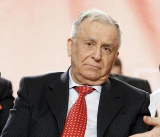 Iliescu, despre propunerile lui Ponta: E dreptul lui si riscul lui