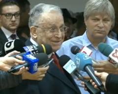 """Iliescu l-a votat pe Dragnea si spune ca procesul lui e """"o aberatie"""""""