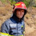 Imaginea emoționantă a pompierului român istovit după misiunea din insula grecească Evia FOTO