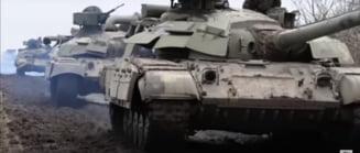 Imagini ale convoaielor militare rusesti care se indreapta spre Ucraina. Tensiune maxima de-a lungul granitei VIDEO