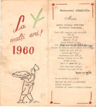 Imagini de arhiva: Cum aratau in urma cu 60 de ani meniurile de Revelion la restaurantele cu staif din Bucuresti