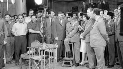 Imagini de istorie. Vizita presedintelui Indoneziei, Ahmed Sukarno, la studiourile Buftea in 1961